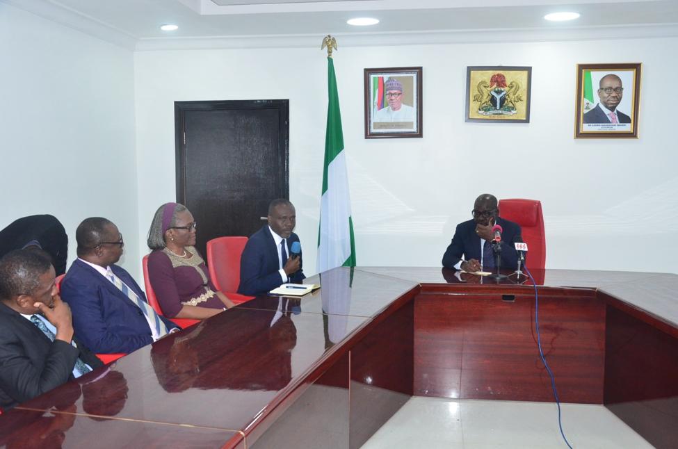 UBTH Management Team Visits Governor Obaseki